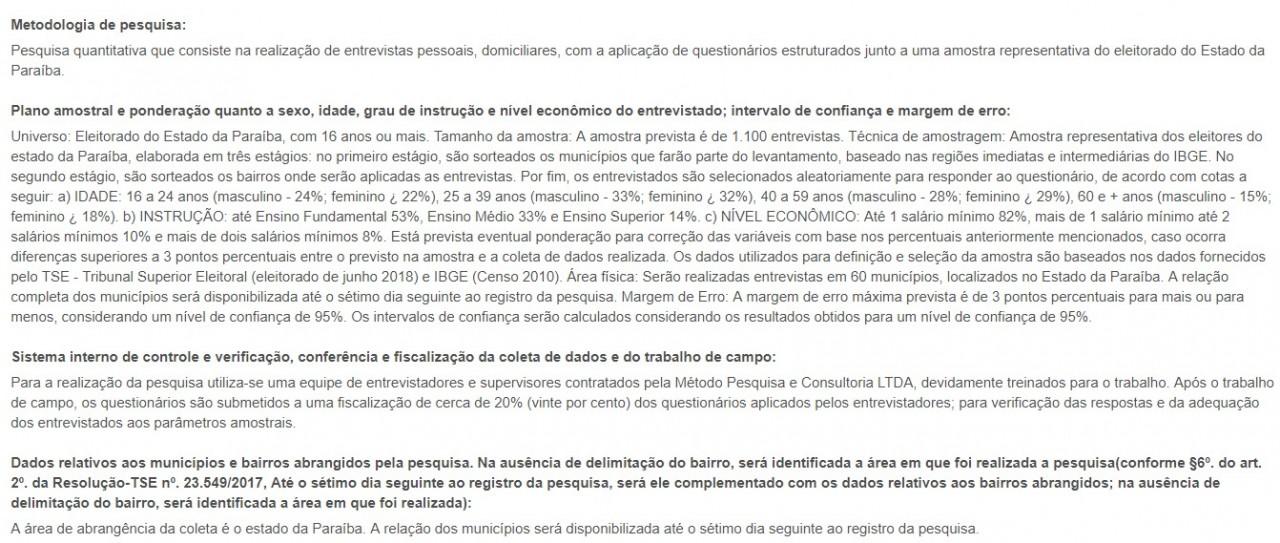 metodo pesquisa correio - PESQUISA MÉTODO / CORREIO: novos números serão divulgados para Governo e Senado na próxima terça-feira