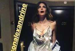 VEJA VÍDEO: Look de Luciana Gimenez causa em noitada e deixa sutiã à mostra