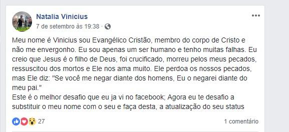 natalia vinicius - Eleitor de Bolsonaro, evangélico, falso fuzileiro naval e suspeito de matar esposa grávida para receber seguro - VEJA DETALHES DAS REDES SOCIAIS