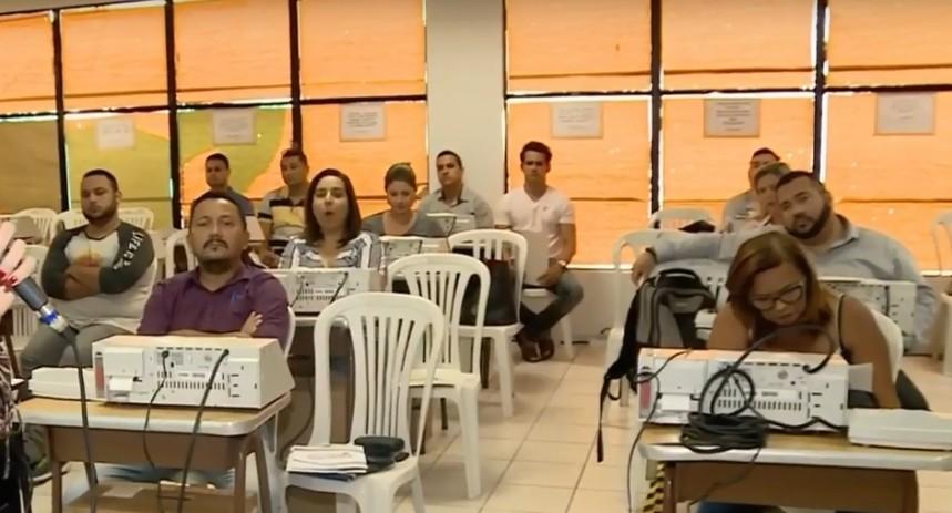 treinamento tre 011 - TRE-PB realiza treinamento com mesários que vão trabalhar nas eleições 2018