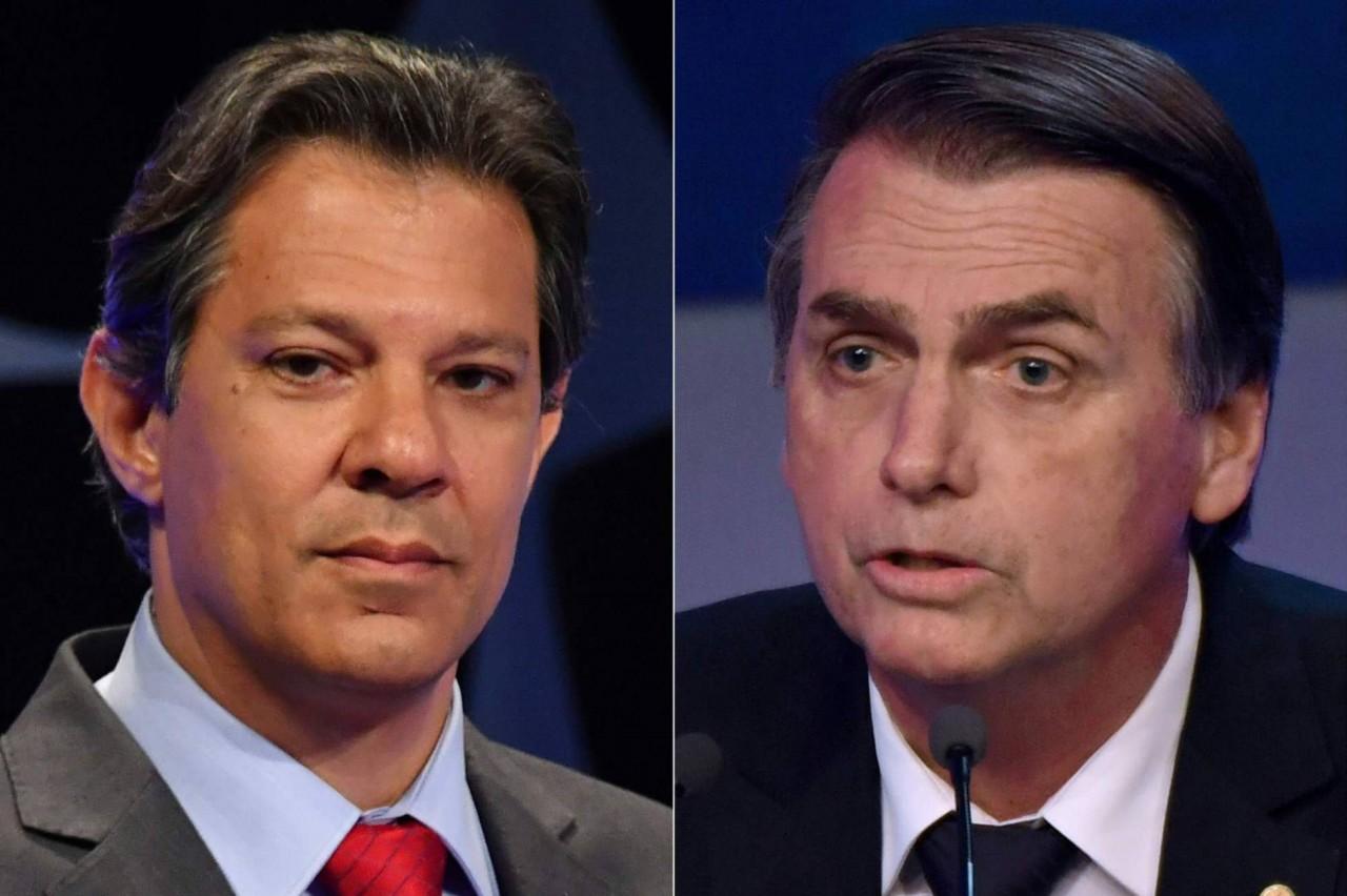 1540324970 266829 1540325855 noticia normal recorte1 - Bolsonaro oscila para baixo e marca 50% enquanto Haddad vê rejeição cair