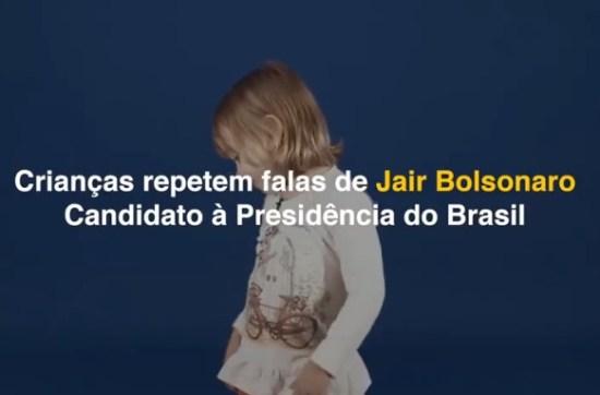 Crianças repetem falas de Jair Bolsonaro