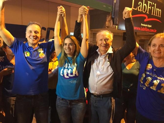 Aguinaldo e Daniella 300x225 - Aguinaldo comemora reeleição e a vitória expressiva de Daniella Ribeiro para o Senado e dos aliados Galego Souza e Paula Frassinetti para ALPB
