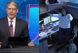 VEJA VÍDEO: Mulher se altera na redação do Jornal Nacional e vira meme na internet