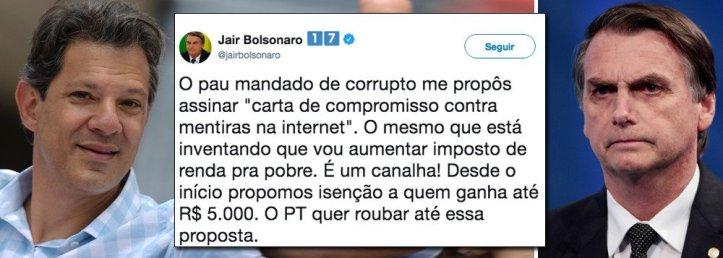 Haddad Bolsonaro 300x107 - Educado demais, Haddad propõe pacto a Bolsonaro que o agride e mente