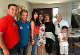 Ney se encontra com Hugo Motta, Nabor e Francisca Motta para reforçar campanha de Veneziano em Patos e região