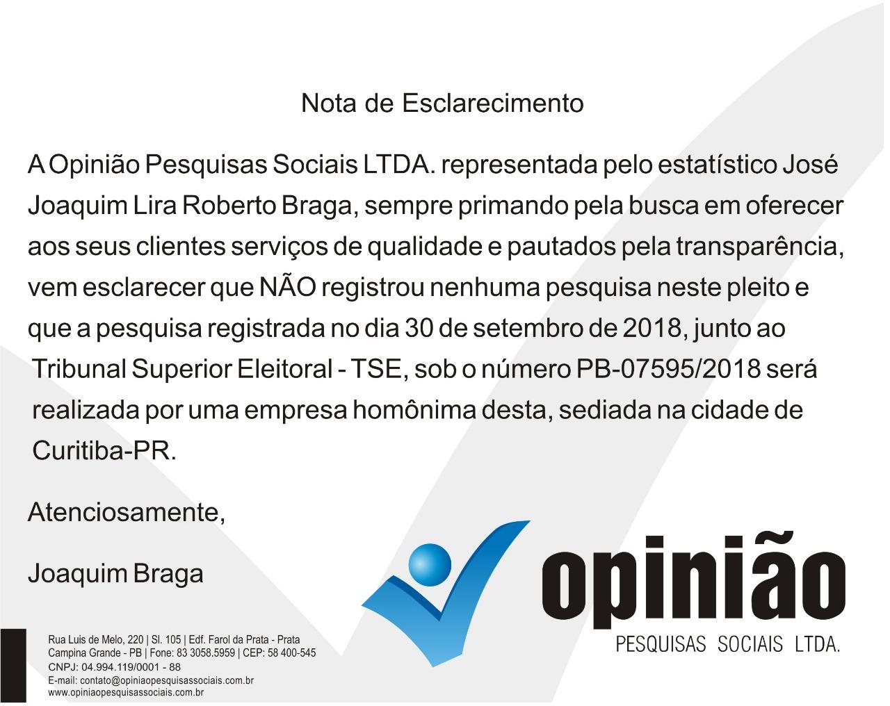 IMG 20181005 WA0033 - DIRETO DE CURITIBA: Instituto Opinião vai divulgar pesquisa de intenções de votos na manhã deste sábado