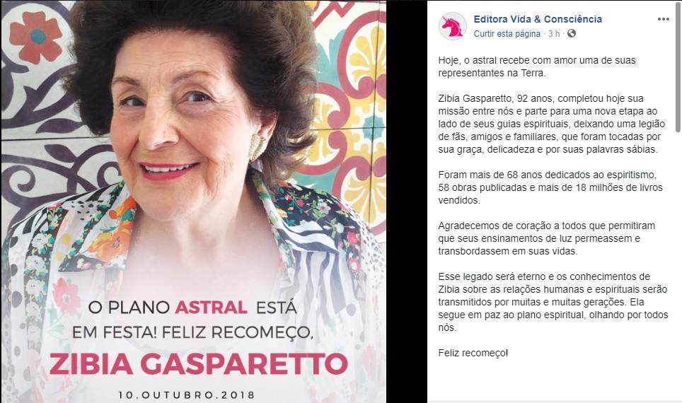 Untitled4rf - Morre a escritora espiritualista Zibia Gasparetto, aos 92 anos