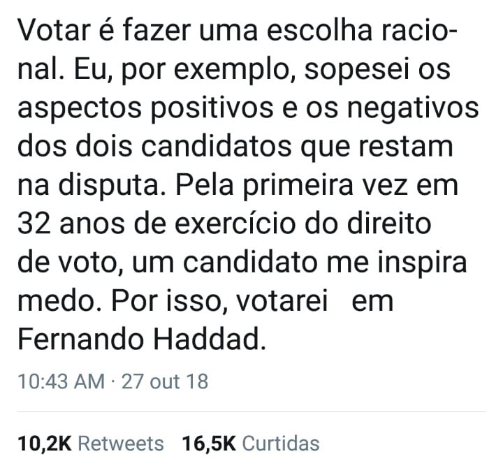 "WhatsApp Image 2018 10 27 at 11.15.19 720x670 - ""Algoz"" do PT, Joaquim Barbosa anuncia voto em Haddad"