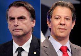 CNT/MDA: Bolsonaro tem 56,8% e Haddad, 43,2% dos votos válidos