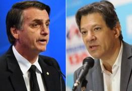 PESQUISA DATAFOLHA: Bolsonaro tem 56% e Haddad 44% das intenções de votos; diferença cai 6 pontos