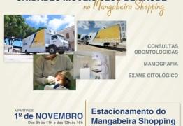 Unidades móveis de saúde do Sesc fazem atendimentos no Mangabeira Shopping