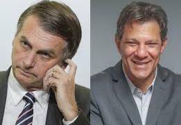 """Bolsonaro diz que aceita debate com Haddad sem """"terceiros"""""""