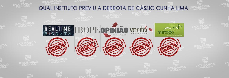 eleições Cássio perdeu - PESQUISAS X URNAS: nenhum instituto previu a derrota de Cássio Cunha Lima nas eleições 2018