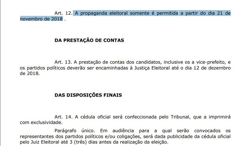 eleições em cabedelo - ELEIÇÕES EM CABEDELO: candidatos terão somente 18 dias para fazer campanha nas ruas
