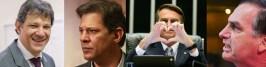 haddad 1 1 - ELE ACEITA, MAS COM UMA CONDIÇÃO: Jair Bolsonaro diz que concorda em ir a debates com Fernando Haddad