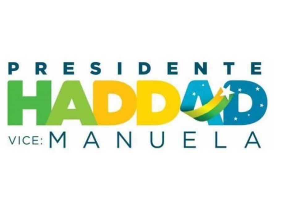 haddad 3 - PT tira nome de Lula e cor vermelha em nova marca de campanha
