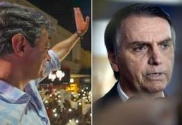 PESQUISA CUT/VOX POPULI: Haddad se aproxima de Bolsonaro e abre margem para virada