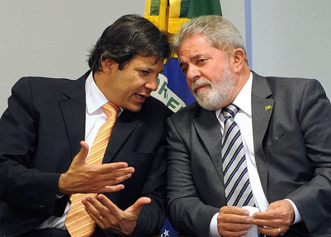 lula e haddad - Lula é pressionado a forçar candidatura de Haddad à Prefeitura de SP