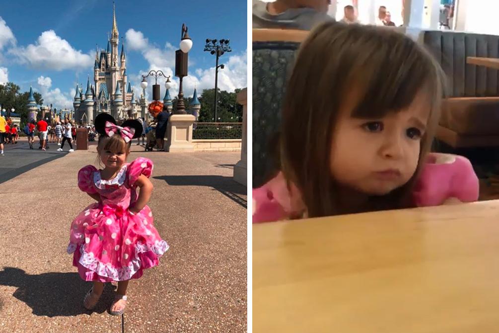 menina disney cuscuz 01 - Menina chama atenção na internet após reclamar da ausência de cuscuz no cardápio da Disney