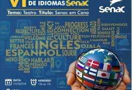 Acontece nesta quarta a 6ª Mostra Cultural de Idiomas do Senac Paraíba