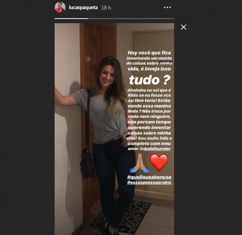 paquetá namorada - Lucas Paquetá usa redes sociais para negar qualquer envolvimento com esposa de companheiro de equipe