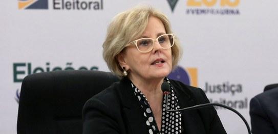 rosa weber - Rosa Weber agradece atuação da Justiça Eleitoral em todo o país