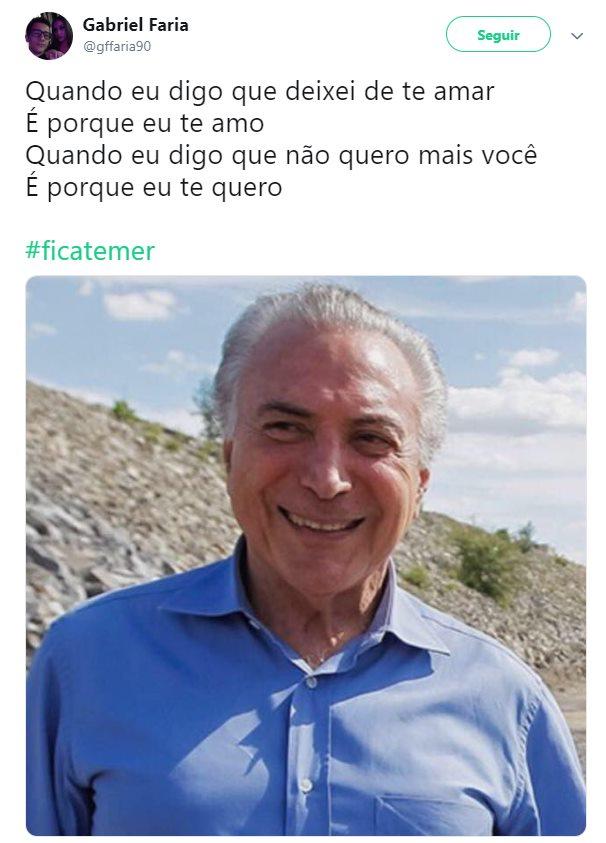 temer 14 - ELEIÇÕES 2018: Com Bolsonaro e Haddad no segundo turno,  #FicaTemer vira meme nas redes sociais