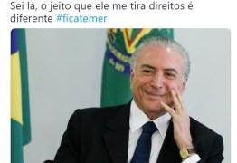 ELEIÇÕES 2018: Com Bolsonaro e Haddad no segundo turno,  #FicaTemer vira meme nas redes sociais