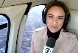 Porta de helicóptero da Globo se abre durante voo, e repórter entra em pânico