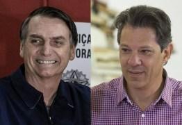 PESQUISA IBOPE 2º TURNO: Bolsonaro tem 59% dos votos válidos e Haddad, 41%