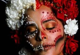 MAQUIAGEM DE HALLOWEEN: Caveira mexicana é inspiração para festas