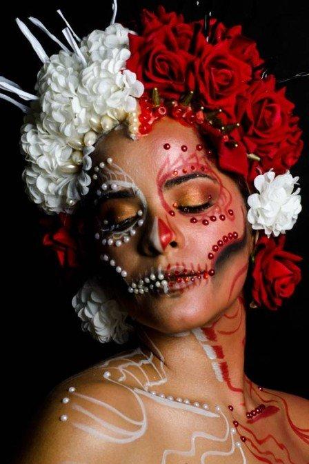 xhalloween 12 .jpg.pagespeed.ic .7FuoyzC3b0 - MAQUIAGEM DE HALLOWEEN: Caveira mexicana é inspiração para festas