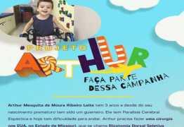'Projeto Arthur': Campanha solidária em prol de criança que precisa de recursos para uma cirurgia nos EUA comove internautas
