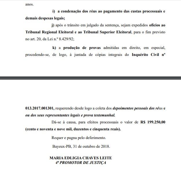 Noquinha 4 - MPPB pede a condenação de Noquinha por irregularidades em contratos de publicidade na Câmara Municipal de Bayeux