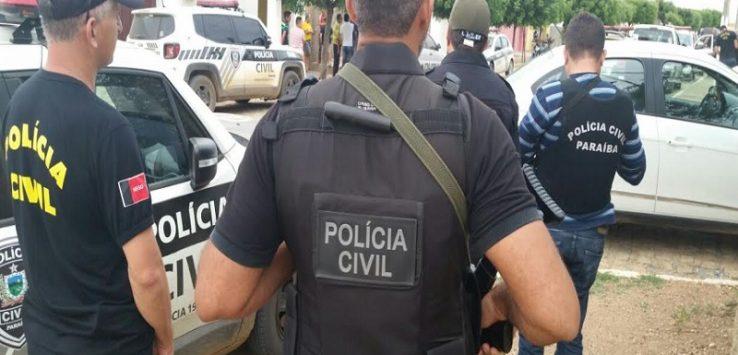 POLÍCIA CIVIL PB 738x355 - OPERAÇÃO MÃO DE FERRO II: Polícia cumpre mandados de prisão, busca e apreensão no município de Belém