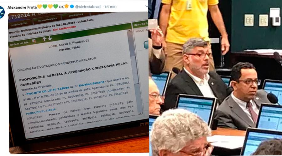 frota - Alexandre Frota usa bóton de parlamentar e tenta participar de Comissão do Escola sem Partido