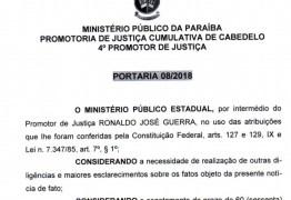 Promotor de Cabedelo abre novo inquérito contra a Câmara e pede ao Gaeco declarações de delator da Xeque-Mate
