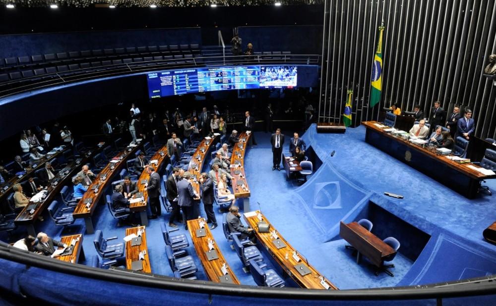 plenario senado - R$ 4 BILHÕES DAS CONTAS PÚBLICAS: Senado aprova aumento de 16% para ministros do STF; salários passarão a R$ 39,2 mil