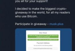 Golpistas faturam R$ 670 mil em Bitcoin com contas falsas de Elon Musk no Twitter