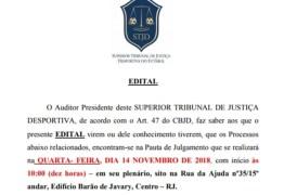 Pleno do STJD vai julgar na próxima quarta-feira acusados de corrupção no futebol da Paraíba
