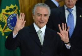 Na Paraíba, Temer afirmou que nenhum político era pai da transposição