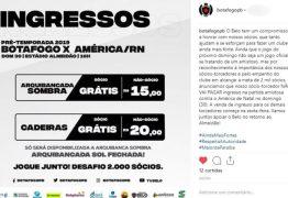 Diretoria do Botafogo-PB desiste de cobrar ingresso a sócios em amistoso