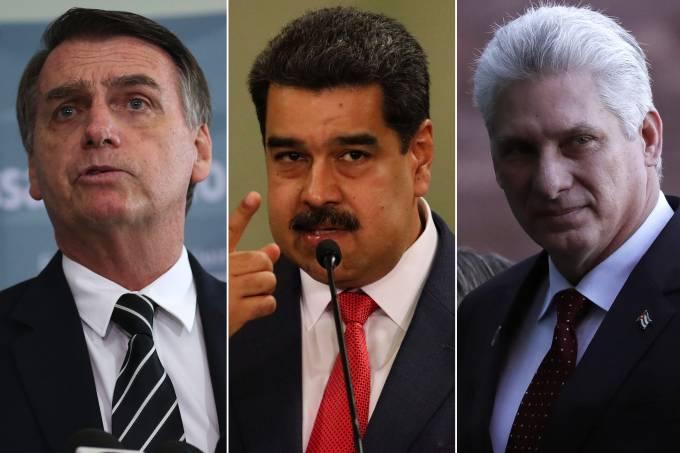 bolsonaro maduro diaz canel - Após pedido de Bolsonaro, Brasil desconvida Cuba e Venezuela para posse