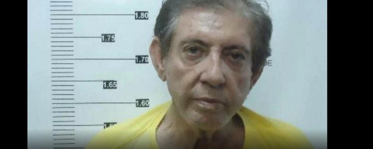 joao - Foto mostra João de Deus ao ser registrado do sistema penitenciário após ser preso suspeito de abusos sexuais