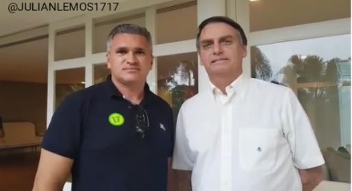 julian lemos jair bolsonaro - Julian posta vídeo em sintonia com presidente eleito Jair Bolsonaro e dispara sobre fogo amigo: 'Na minha casa, o que meu pai falava era respeitado'