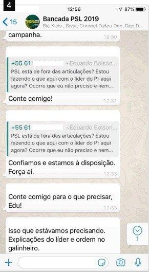 p3 - Aliados de Bolsonaro protagonizam 'barraco' em grupo de WhatsApp, confira prints da  discussão vazada por Joice Hasselmann