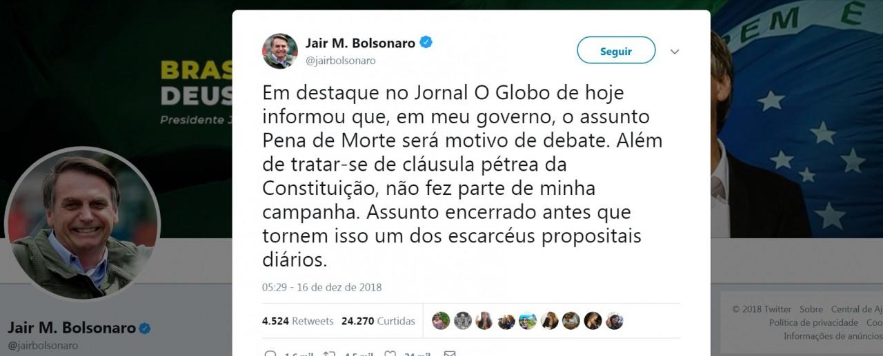 pena de morte - Eduardo Bolsonaro quer exceção para implantar pena de morte no Brasil