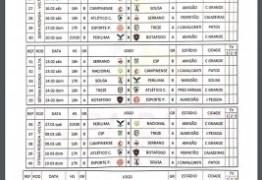 FPF divulga tabela completa do campeonato paraibano de 2019