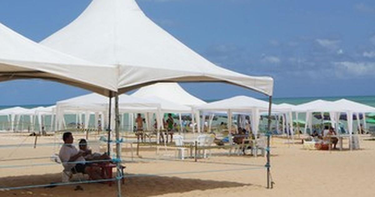 tendas joao pessoa - Sedurb cadastra famílias interessadas em instalar tendas na praia durante o Réveillon